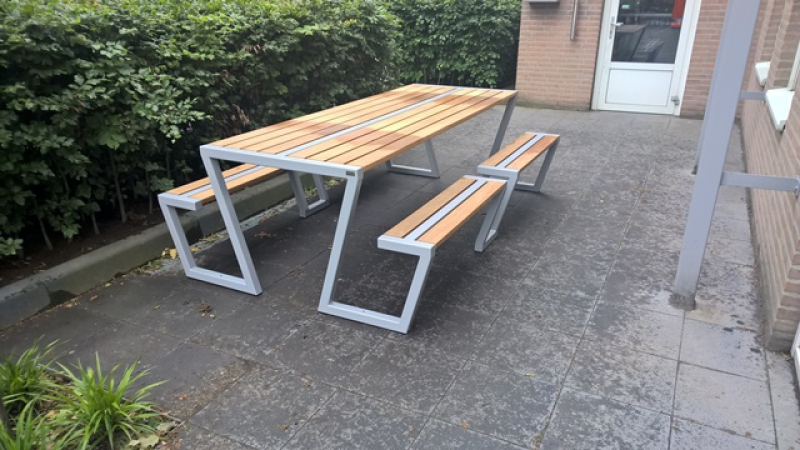 Picknick Tafel Stevig.Picknicktafel Z Metalen Picknicktafels Uw Parkmeubilair
