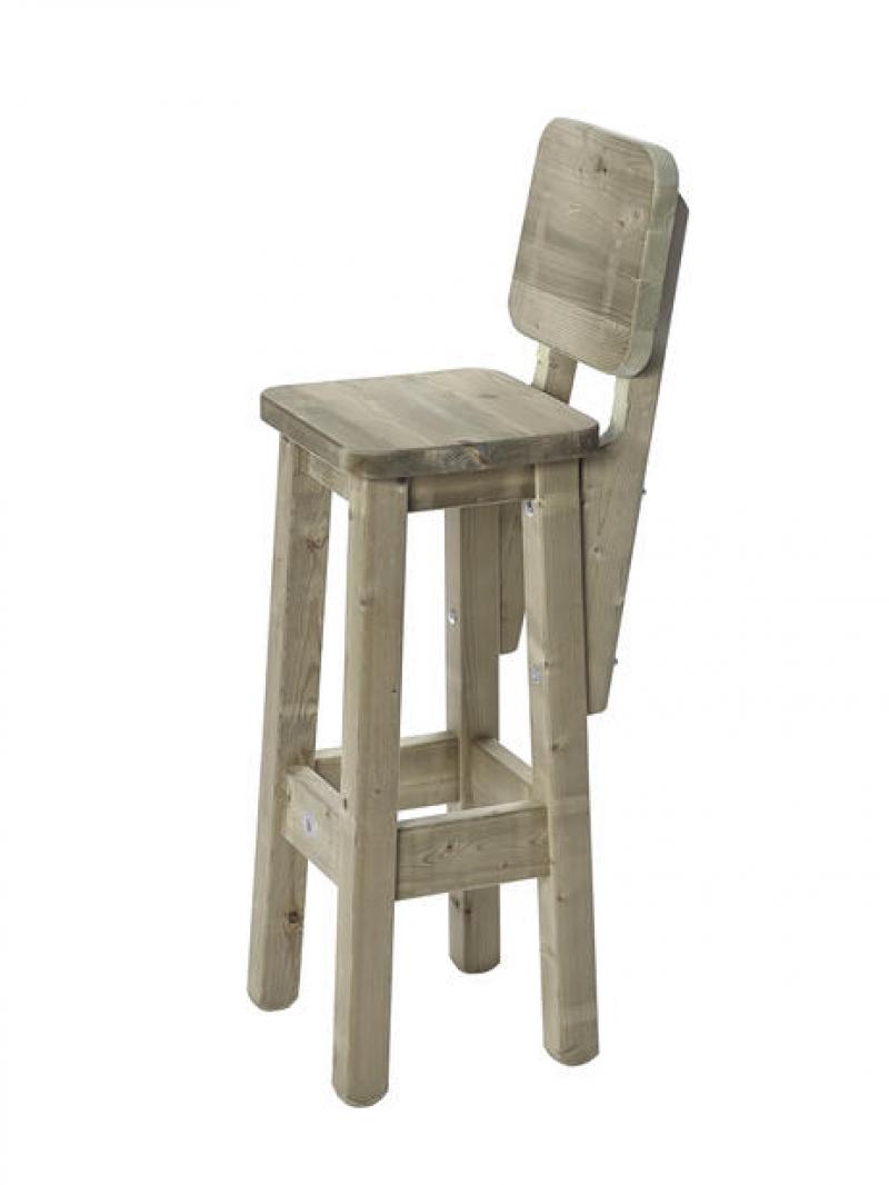 Houten barkruk en statafel houten zitbanken uw for Stoelen voor buiten