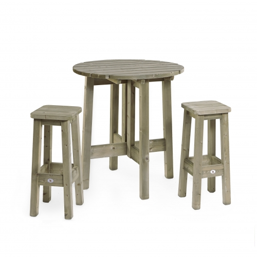 Houten barkruk en statafel houten zitbanken uw for Houten bartafel